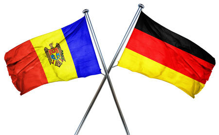 moldovan: Moldova flag combined with germany flag