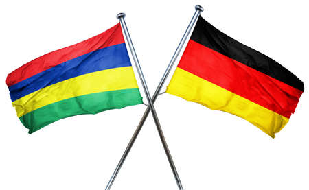 mauritius: Mauritius flag combined with germany flag Stock Photo
