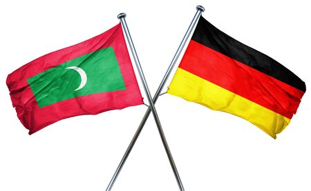 combined: Maldives flag combined with germany flag