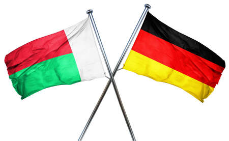 combined: Madagascar flag combined with germany flag