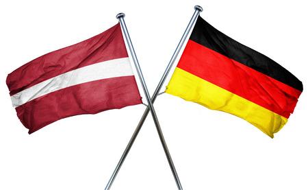 treaty: Latvia flag combined with germany flag Stock Photo