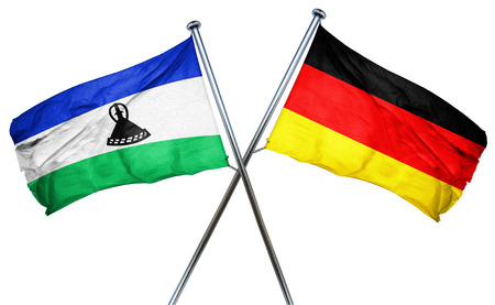 combined: Lesotho flag combined with germany flag