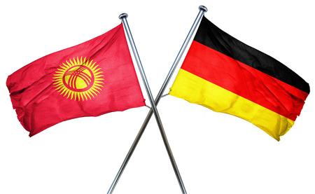 kyrgyzstan: Bandera de Kirguistán se combina con el indicador de Alemania Foto de archivo