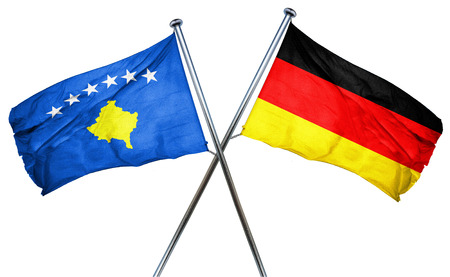 combined: Kosovo flag combined with germany flag