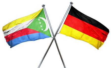 comoros: Comoros flag combined with germany flag Stock Photo