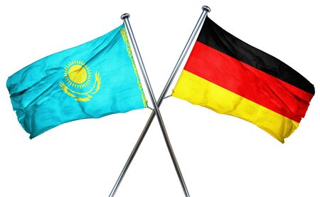combined: Kazakhstan flag combined with germany flag