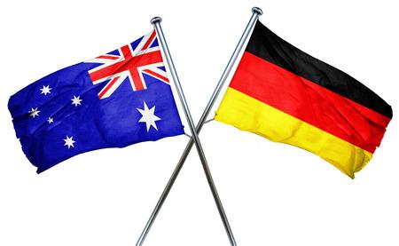 vlag van Australië in combinatie met de vlag van Duitsland