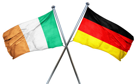 Ireland flag combined with germany flag