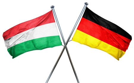 treaty: Hungary flag combined with germany flag