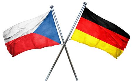 combined: czechoslovakia flag combined with germany flag