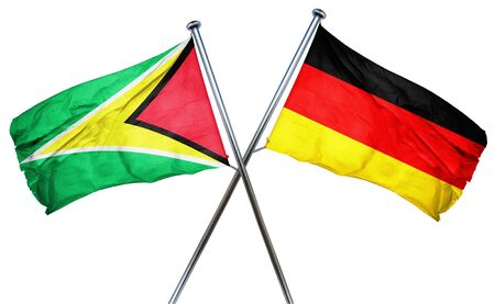 combined: Guyana flag combined with germany flag
