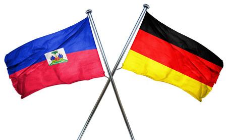 haiti: Haiti flag combined with germany flag Stock Photo