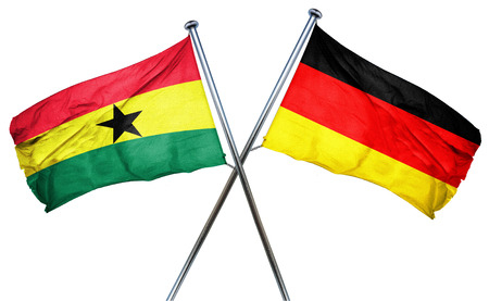 isolation backdrop: Ghana flag combined with germany flag