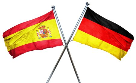 spanish flag: Spanish flag combined with germany flag