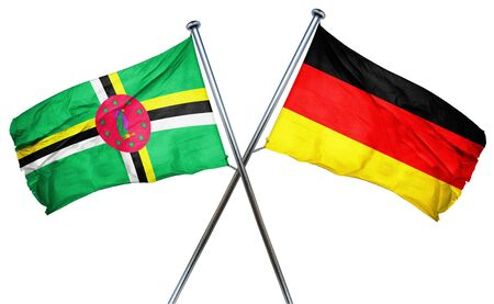 combined: Dominica flag combined with germany flag