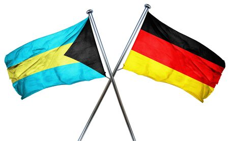 combined: Bahamas flag combined with germany flag Stock Photo