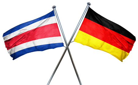 costa rica: Costa Rica flag combined with germany flag