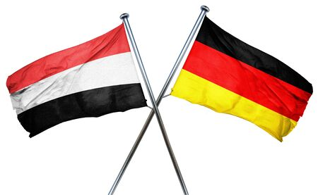 isolation backdrop: Yemen flag combined with germany flag