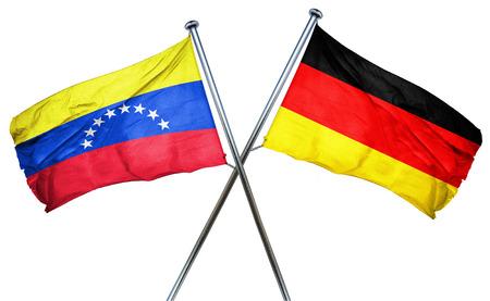 bandera de venezuela: bandera de Venezuela en combinaci�n con el indicador de Alemania Foto de archivo