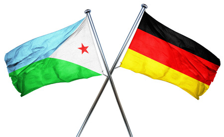 combined: Djibouti flag combined with germany flag Stock Photo