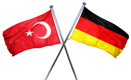 Turkey flag combined with germany flag
