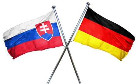 slovakia flag: Slovakia flag combined with germany flag Stock Photo