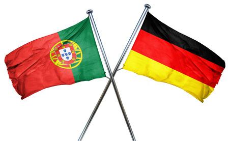 drapeau portugal: Portugal drapeau combiné avec drapeau de l'allemagne Banque d'images