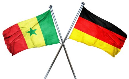 isolation backdrop: Senegal flag combined with germany flag