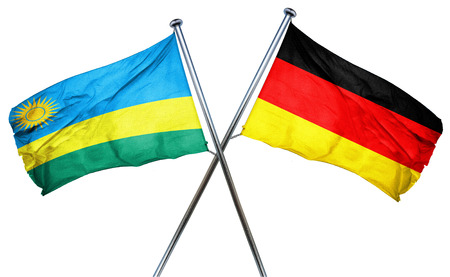 combined: Rwanda flag combined with germany flag