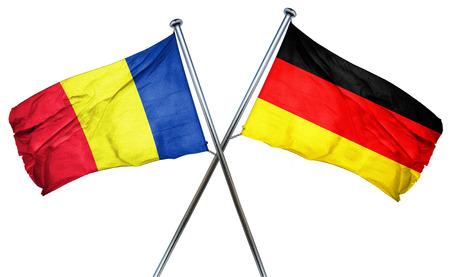 romania flag: Romania flag combined with germany flag Stock Photo