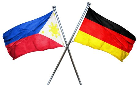 philippino: Philippines flag combined with germany flag Stock Photo