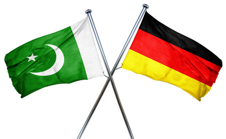 pakistan flag: Pakistan flag combined with germany flag