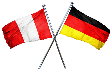 isolation backdrop: Peru flag combined with germany flag