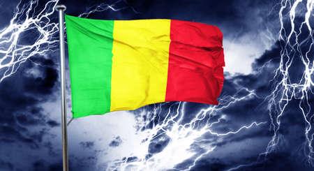 storm cloud: Mali flag, 3D rendering, crisis concept storm cloud Stock Photo