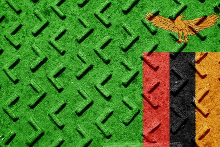 zambian flag: Zambia flag with some soft highlights and folds