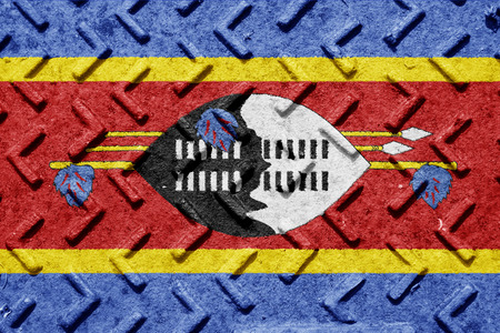 swaziland: Swaziland flag with some soft highlights and folds Stock Photo