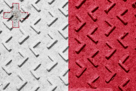 malta flag: Malta flag with some soft highlights and folds