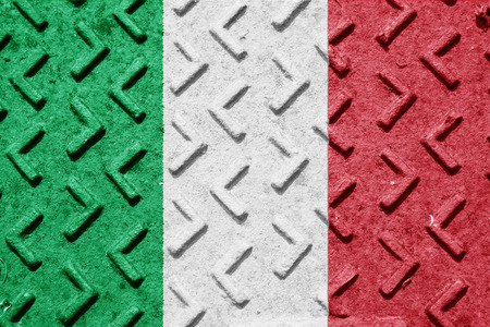 italian politics: Italy flag with some soft highlights and folds
