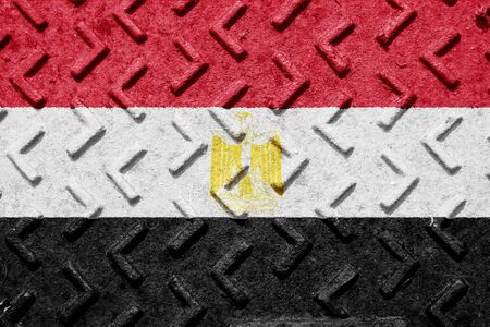 egypt flag: Egypt flag with some soft highlights and folds