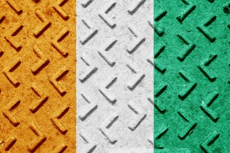 ivory: Ivory coast flag with some soft highlights and folds
