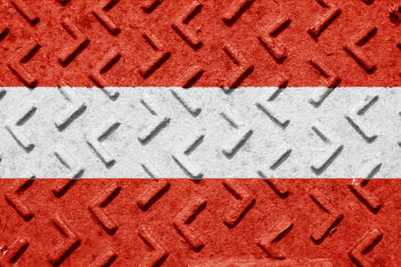 austrian flag: Austrian flag with some soft highlights and folds Stock Photo