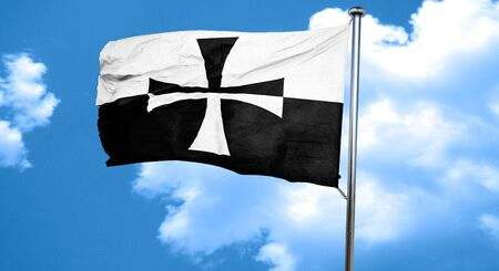 teutonic: Teutonic knights with some soft highlights and folds, 3D rendering, waving in the wind