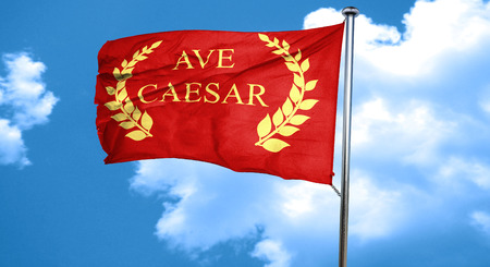 magistrates: ave caesar roman empire with some soft smooth lines, 3D rendering, waving in the wind