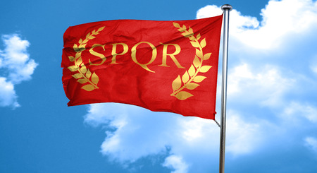 roma with laurel wreath and some soft smooth lines, 3D rendering, waving in the wind