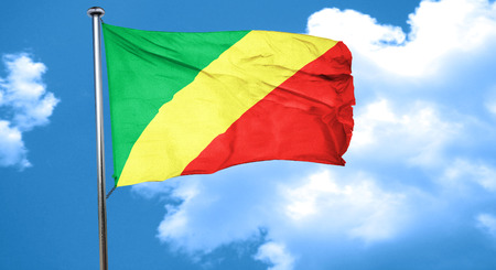 Congo: Congo flag waving in the wind