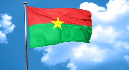 burkina faso: Burkina Faso flag waving in the wind