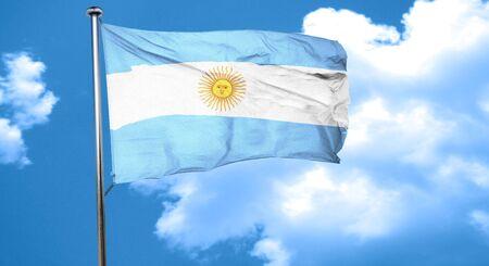 bandera argentina: Bandera de Argentina ondeando en el viento