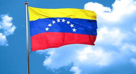 bandera de venezuela: Venezuela bandera ondeando en el viento
