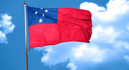 samoa: Samoa flag waving in the wind