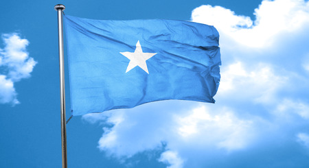 somalian culture: Somalia flag waving in the wind
